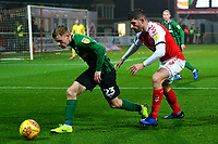 Fleetwood Town's Ched Evans vies for possession with Coventry City's Luke Thomas<br /> <br /> Photographer Richard Martin-Roberts/CameraSport<br /> <br /> The EFL Sky Bet League One - Fleetwood Town v Coventry City - Tuesday 27th November 2018 - Highbury Stadium - Fleetwood<br /> <br /> World Copyright &copy; 2018 CameraSport. All rights reserved. 43 Linden Ave. Countesthorpe. Leicester. England. LE8 5PG - Tel: +44 (0) 116 277 4147 - admin@camerasport.com - www.camerasport.com