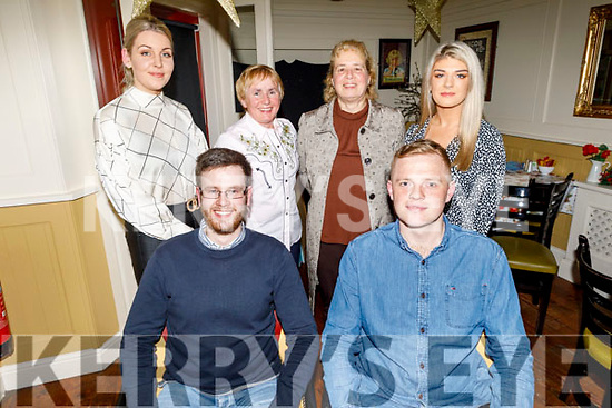 The staff of O'Mahoneys Bookstore enjoying their Festive night out in the Brogue Inn on Saturday.<br /> Seated l to r: Niall Lehane and Peter Nammock.<br /> Back l to r: Diana Fealy, Bridget Leane, Maureen O'Shea and Amy Casey.