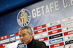 Getafe's coach Fran Escriba in press conference after La Liga match. February 14,2016. (ALTERPHOTOS/Acero)
