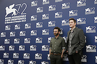 Directors Charlie Kaufman, left, and Duke Johnson attend a photocall for the movie 'Anomalisa' during the 72nd Venice Film Festival at the Palazzo Del Cinema in Venice, Italy, September 8, 2015 in Venice, Italy. <br /> UPDATE IMAGES PRESS/Stephen Richie