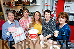 Anne O'Shea, Mary Lynch, Eileen Whelan, Maura Whelan and Helena Foran, pictured at the Paco, Coffee Morning, in aid of Multiple Sclerosis, on Friday morning last.