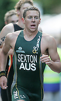31 AUG 2007 - HAMBURG, GER - Brendan Sexton (AUS) - Under 23 Mens World Triathlon Championships. (PHOTO (C) NIGEL FARROW)