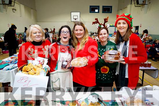 Pictured at Ardfert Christmas Craft Fair on Sunday last were l-r: Peg Goggin, Mary Jo Daly, Caitriona Goggin, Margaret Looney and Lorraine Nolan.