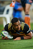 June 3rd 2017, NIB Stadium, Perth, Australia; Super Rugby; Force v Hurricanes;  Ngani Laumape of the Hurricanes dives over the try line
