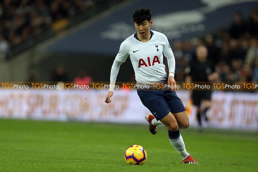 Son Heung-Min of Tottenham Hotspur during Tottenham Hotspur vs Manchester United, Premier League Football at Wembley Stadium on 13th January 2019