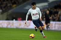 Son Heung-Min of Tottenham Hotspur during Tottenham Hotspur vs Manchester United, Premier League Football at Wembley Stadium on 13th January 2019