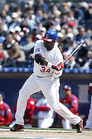 David Ortiz of the Dominican Republic during semi final game against Cuba during the World Baseball Championships at Petco Park in San Diego,California on March 18, 2006. Photo by Larry Goren/Four Seam Images