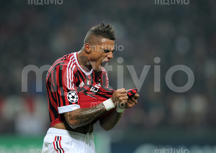 FUSSBALL   CHAMPIONS LEAGUE   SAISON 2011/2012     23.11.2011 AC Mailand - FC Barcelona EMOTION PUR! Kevin Prince Boateng (AC Mailand)