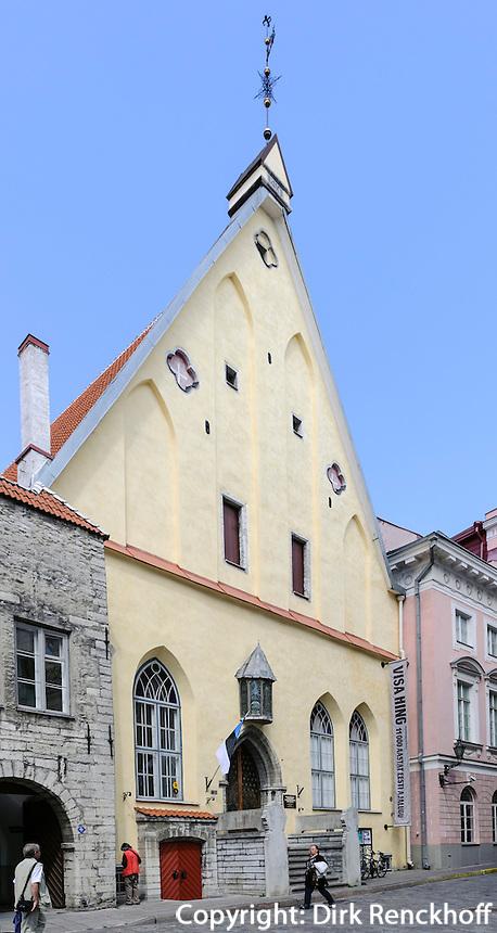 Geschichtsmuseum, ehemaliges Gildehaus der Kaufleute, Pikk17  in Tallinn (Reval), Estland, Europa, Unesco-Weltkulturerbe