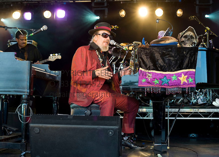 Dr John  at The Cornbury Festival in Oxfordshire CREDIT Geraint Lewis