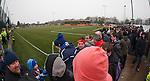 Rangers fans at Annan's ground Galabank Stadium