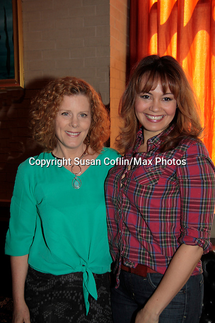 Liz Keifer & Lauren B. Martin - 11th Annual Daytime Stars & Strikes Event for Autism - 2015 on April 19, 2015 hosted by Guiding Light's Jerry ver Dorn (& OLTL) and Liz Keifer at Bowlmor Lanes Times Square, New York City, New York. (Photos by Sue Coflin/Max Photos)