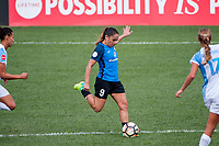 Kansas City, MO - Wednesday August 16, 2017: Lo'eau Labonta during a regular season National Women's Soccer League (NWSL) match between FC Kansas City and the Orlando Pride at Children's Mercy Victory Field.