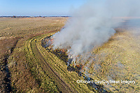 63863-02919 Prescribed Burn by IDNR Prairie Ridge State Natural Area Marion Co. IL