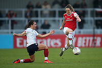 Lisa Evans of Arsenal and Leighanne Robe of Liverpool during Arsenal Women vs Liverpool Women, Barclays FA Women's Super League Football at Meadow Park on 24th November 2019