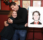 Charlotte Moore and James Barbour attend James Barbour's Top Secret portrait unveiling at Sardi's on March 10, 2017 in New York City.