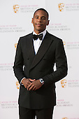 London, UK. 8 May 2016. Reggie Yates. Red carpet  celebrity arrivals for the House Of Fraser British Academy Television Awards at the Royal Festival Hall.