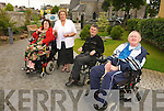 Wheelchair users from North Kerry were furious when their wheelchair reserved seating was not available when they were returning from Dublin on Sunday, from left: Kyra Walsh, Listowel,  Mary Doyle, John Costello, Asdee (chairman of M.S North Kerry) and Tom Kelly.