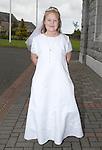 Noelle Sheridan on communion day in Duleek on Saturday.