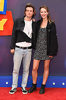"Dougie Poynter and Maddie Elmer<br /> arriving for the ""Toy Story 4"" premiere at the Odeon Luxe, Leicester Square, London<br /> <br /> ©Ash Knotek  D3509  16/06/2019"