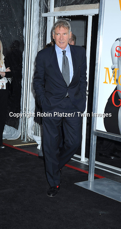 "Harrison Ford attending the World Premiere of "" Morning Glory"" starring Harrison Ford, Diane Keaton and Rachel McAdams on November 7, 2010 at The Ziegfeld Theatre in New York City."