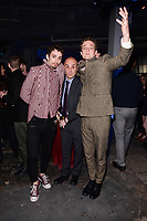 NEW YORK CITY - APRIL 20: Robert Sheehan, Alvaro Ramos and Lucas Arthur Englander attend the National Geographic GENIUS: PICASSO Tribeca Film Festival after party at The Genius Studio, 100 Avenue of the Americas, in New York City on April 20, 2018 in New York City.  The Genius: Studio is an interactive installation designed to inspire people to create their own masterpieces. (Photo by Anthony Behar/National Geographic/PictureGroup)