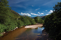 The River Nevis and the Mamores from near Achintee, Lochaber