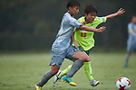 (L to R) <br /> Mina Tanaka (Beleza), <br /> Kozue Setoguchi (JEF Ladies), <br /> SEPTEMBER 17, 2017 - Football / Soccer : <br /> 2017 Plenus Nadeshiko League Division 1 match <br /> between JEF United Ichihara Chiba Ladies 0-1 NTV Beleza <br /> at Frontier Soccer Field in Chiba, Japan. <br /> (Photo by AFLO SPORT)