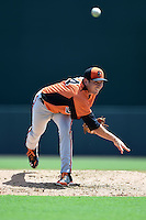 Baltimore Orioles pitcher Jimmy Yacabonis (84) during an Instructional League game against the Tampa Bay Rays on September 15, 2014 at Ed Smith Stadium in Sarasota, Florida.  (Mike Janes/Four Seam Images)