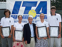 26 August 2005: Alice Barnes and Erin Burdette are recognized as members of the 2005 ITA National All-Star team.