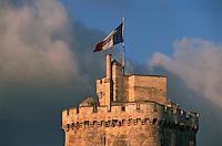 France/17/Charente Maritime/La Rochelle: Le vieux port, détail de la tour Saint Nicolas