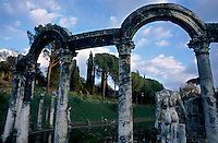 Ruins of the Canopeo at Adrian's Villa, Tivoli, Italy.