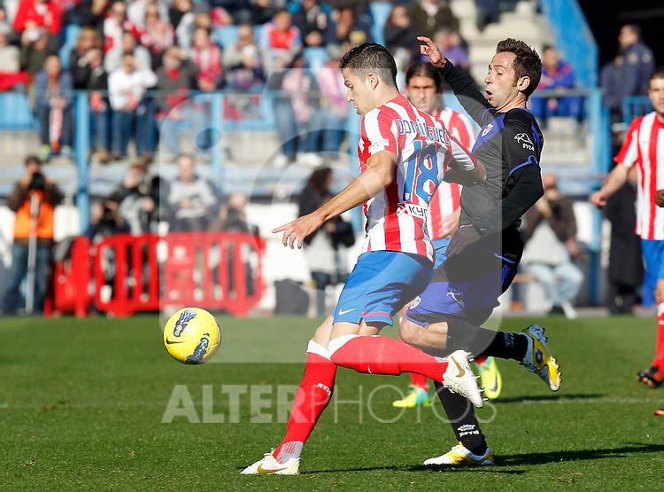 Madrid (04/12/2011).- Estadio Vicente Calderon..LIGA BBVA 15ª Jornada.Atletico de Madrid - Rayo Vallecano..Tamudo, Dominguez.......