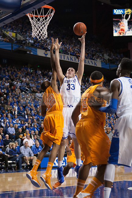UK sophomore forward Kyle Wiltjer during the second half of the UK vs. Tennessee basketball game at Rupp Arena on Tuesday, Jan. 15, 2013. Photo by Adam Chaffins | Staff