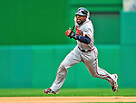 26 September 2010: Atlanta Braves outfielder  Jason Heyward hustles on the basepath during game action against the Washington Nationals at Nationals Park in Washington, DC. The Nationals defeated the pennant-seeking Braves 4-2 to take the rubber match of their 3-game series. Mandatory Credit: Ed Wolfstein Photo