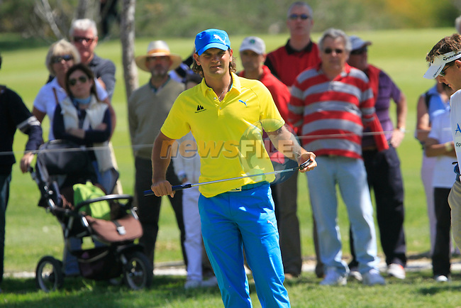 Johan Edfors (SWE) on the 2nd green during the Final Day Sunday of the Open de Andalucia de Golf at Parador Golf Club Malaga 27th March 2011. (Photo Eoin Clarke/Golffile 2011)