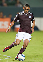 CARSON, CA – September 9, 2011: Colorado Rapid defender Tyrone Marshall (34) during the match between LA Galaxy and Colorado Rapids at the Home Depot Center in Carson, California. Final score LA Galaxy 1, Colorado Rapids 0.