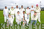 Kerry Team - front Michael Lynch, Daragh Lynch, Alex Francis, Sam Hedges, Back Sha Fique, Dave Ramsay, Prince Thomas,  Kassen  Butt , Richard Rutland, Mark Farran and Donovan Bodie in the Cricket Munster League Division 3 Limerick v Kerry match at the Tralee Sports Complex on Sunday