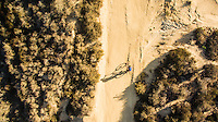 Aerial of Mountain Biker at Aliso and Wood Canyon Wilderness Park in Laguna Beach Shot with Phantom 3