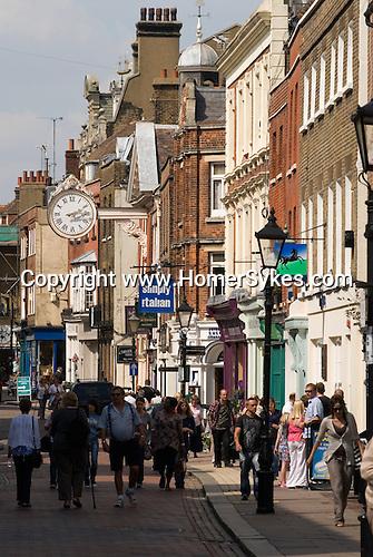 Rochester Kent. UK. Tourism The High Street.