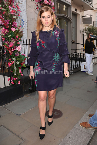 Princess Beatrice of York is pictured leaving the Beulah London Boutique store in Chelsea, London.<br />