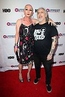 "LOS ANGELES, CA-  Constance Cooper, Howie Pyro, At 2017 Outfest Los Angeles LGBT Film Festival - Closing Night Gala Screening Of ""Freak Show"" at The Theatre at Ace Hotel, California on July 16, 2017. Credit: Faye Sadou/MediaPunch"