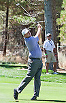 August 5, 2012:  Gary Christian from Carshalton, England hits an approach shot on the 5th hole during the final round of the 2012 Reno-Tahoe Open Golf Tournament at Montreux Golf & Country Club in Reno, Nevada.