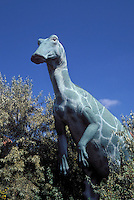 Dinosaur Replica..(Edmontosaurus sp)..Prehistoric Park, Calgary Zoo. Calgary, Alberta. Canada.