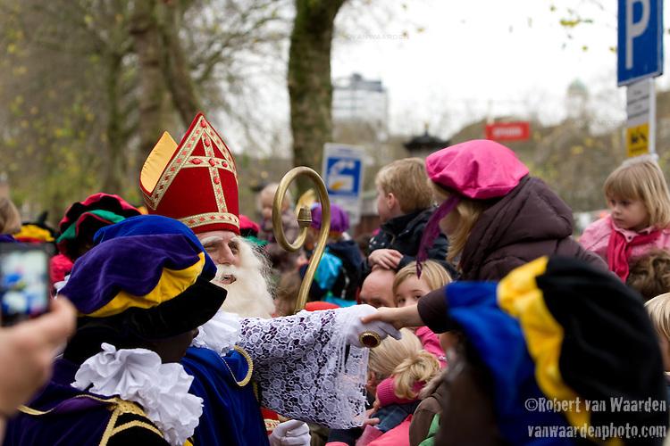 Sinter Klaas comes to Utrecht, the Netherlands