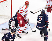 The Boston University Terriers defeated the visiting University of Connecticut Huskies 4-2 (EN) on Saturday, October 24, 2015, at Agganis Arena in Boston, Massachusetts.