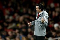 28th November 2019; Emirates Stadium, London, England; UEFA Europa League Football, Arsenal versus Frankfurt; A dejected Arsenal Manager Unai Emery - Editorial Use