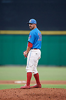Clearwater Threshers relief pitcher Trevor Bettencourt (39) gets ready to deliver a pitch during a game against the St. Lucie Mets on August 11, 2018 at Spectrum Field in Clearwater, Florida.  St. Lucie defeated Clearwater 11-0.  (Mike Janes/Four Seam Images)