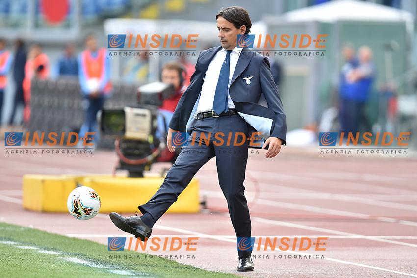 Simone Inzaghi coach of SS Lazio <br /> Roma 19-10-2019 Stadio Olimpico <br /> Football Serie A 2019/2020 <br /> SS Lazio - Atalanta<br /> Foto Andrea Staccioli / Insidefoto