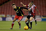 Crewe's Harry Pickering and Sheffield United's Harvey Gilmour battle for the ball during the FA Youth Cup First Round match at Bramall Lane Stadium, Sheffield. Picture date: November 1st 2016. Pic Richard Sellers/Sportimage